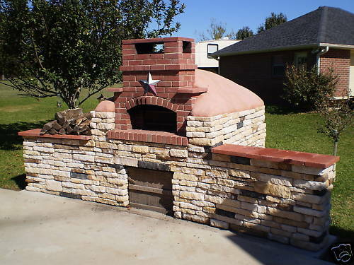 Pizza outdoor brick oven kitchen cd wood fired pizza - Outdoor kitchen pizza oven design ...