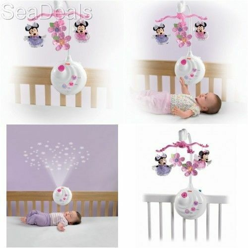Projection mobile toy disney minnie mouse baby sleep musical play crib soother ebay - Minnie mouse mobel ...