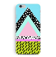 Case For iPhone 6 6S Patterned Cover Pyramid Triangles Hipster Trendy 80s Slim
