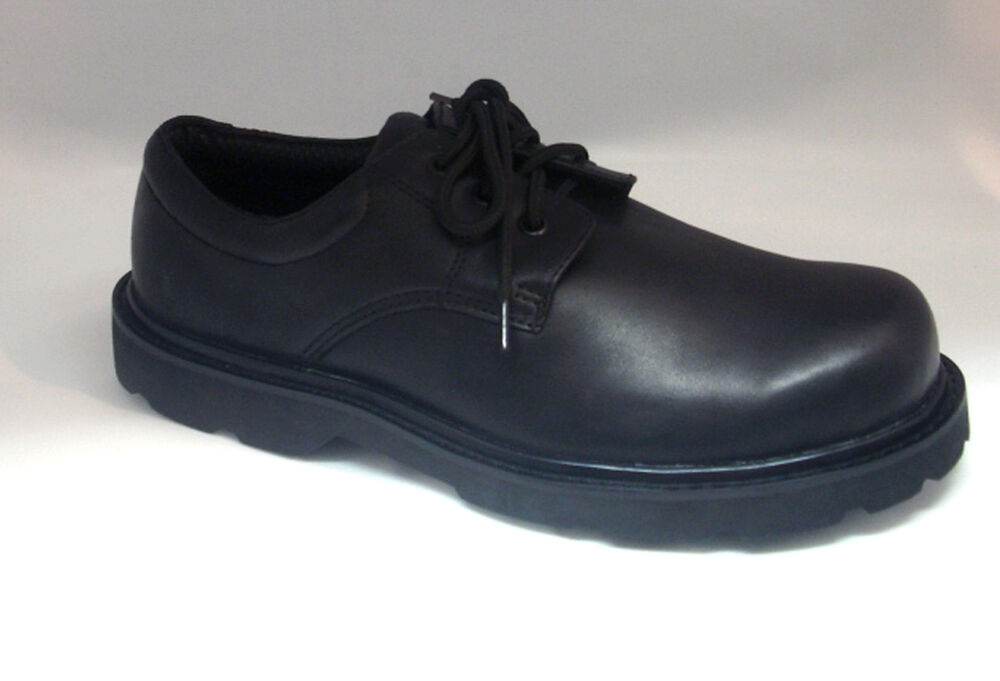 Men S Oxford Boots Waterproof Black Leather 4 Quot Comfort