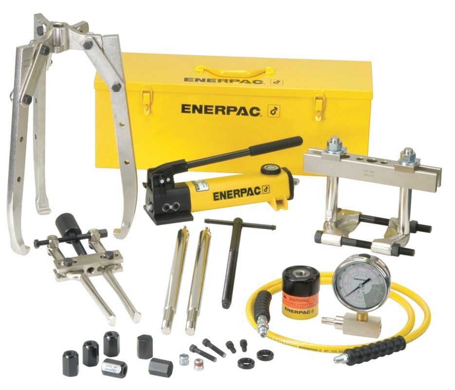 Bhp Series Hydraulic Master Puller Sets : Enerpac bhp hydraulic puller set ton