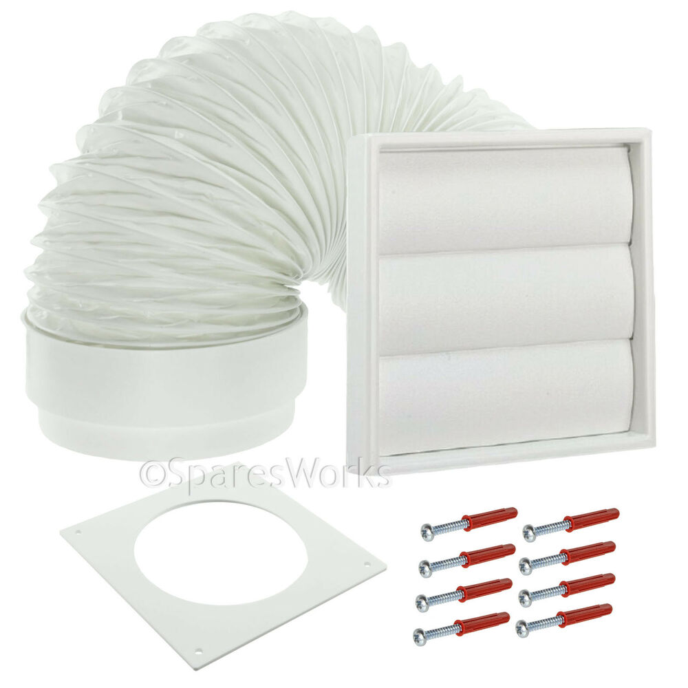 Universal Tumble Dryer Venting Kit External Vent Wall