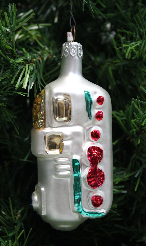 Vintage hand blown painted polish mercury glass for Glass christmas ornaments to paint