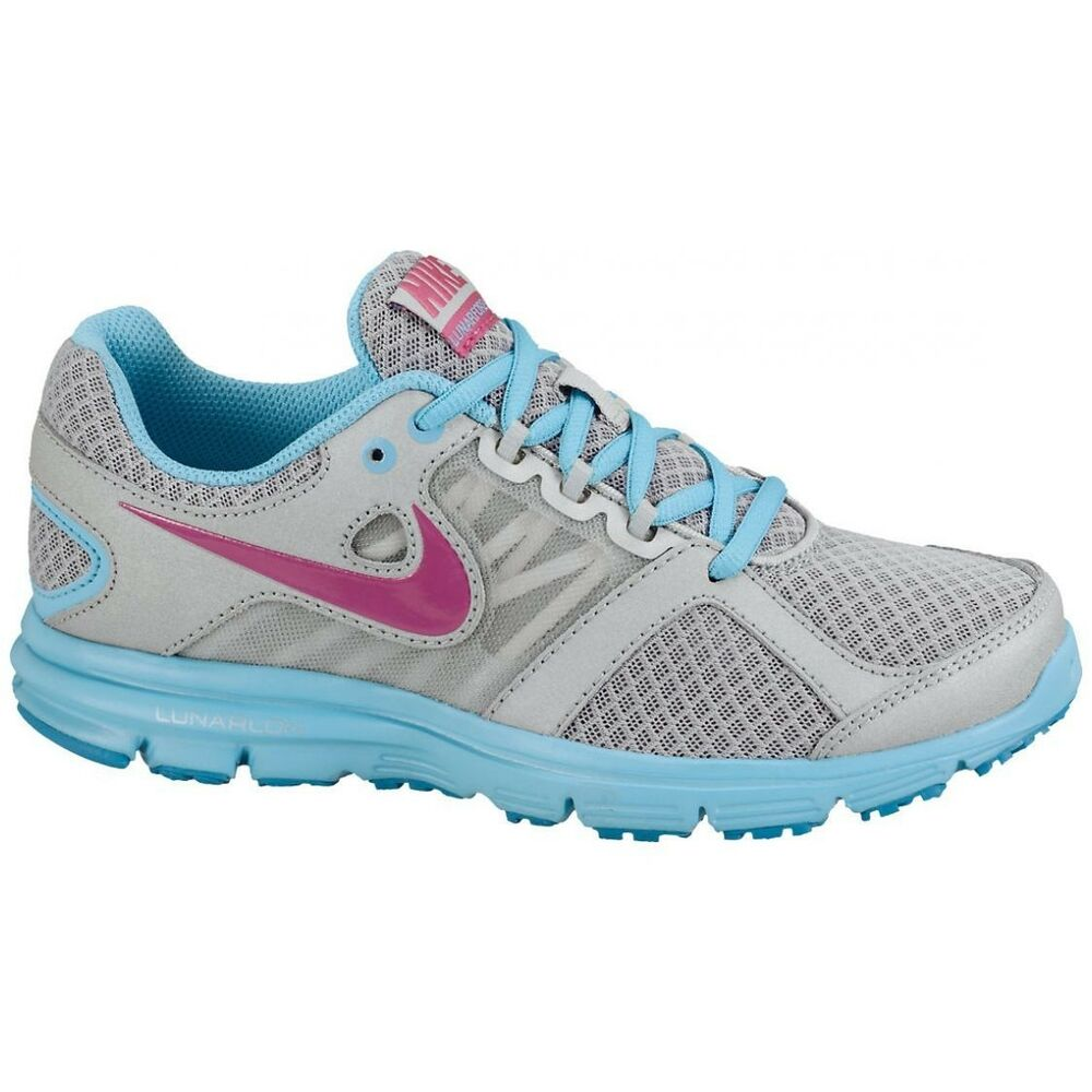the best attitude 1a037 0991e Details about Nike Lunar Forever 2 GS 555031 001 Silver Pink Blue Youth  Kids Womens Size 7Y