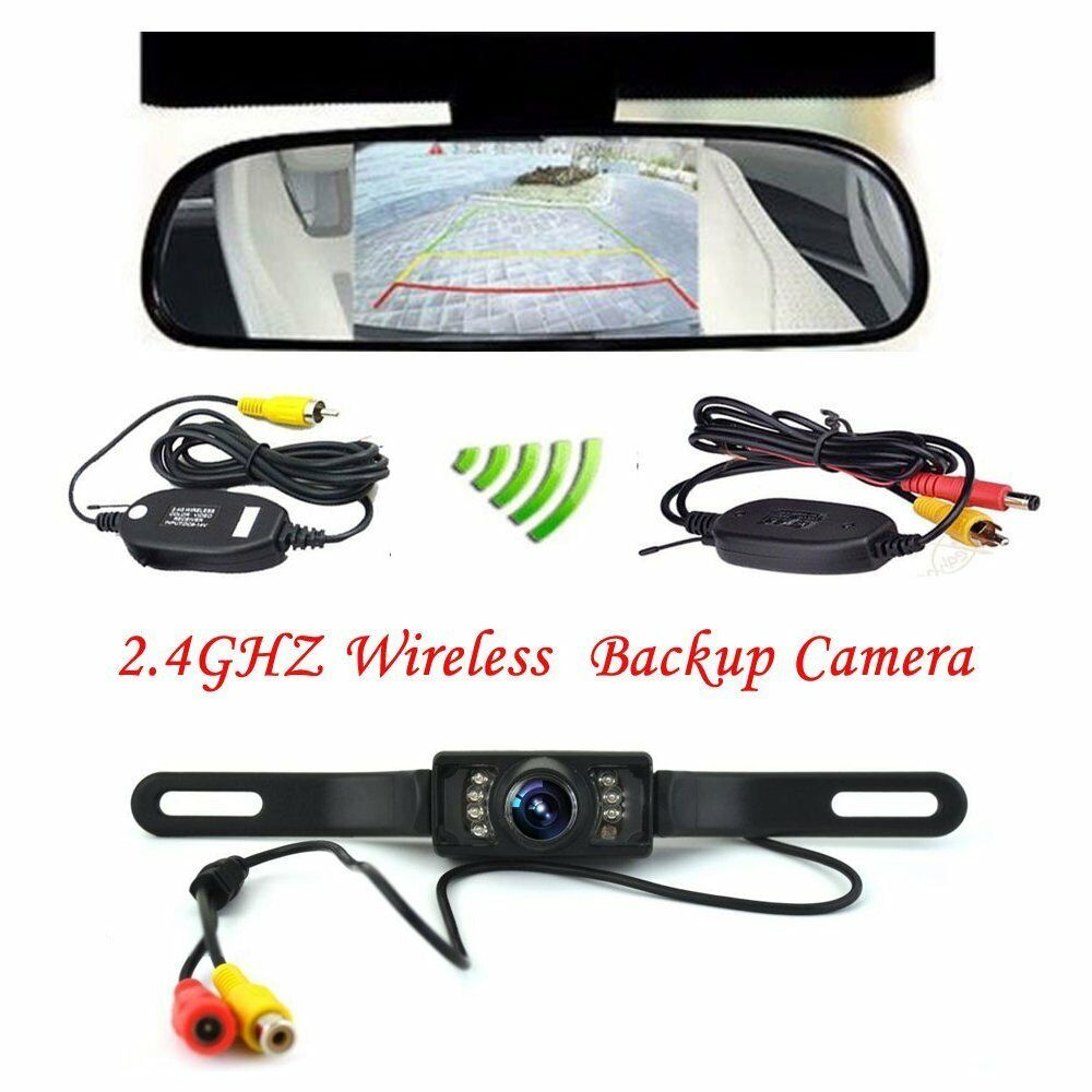 wireless car backup camera rear view system night vision. Black Bedroom Furniture Sets. Home Design Ideas