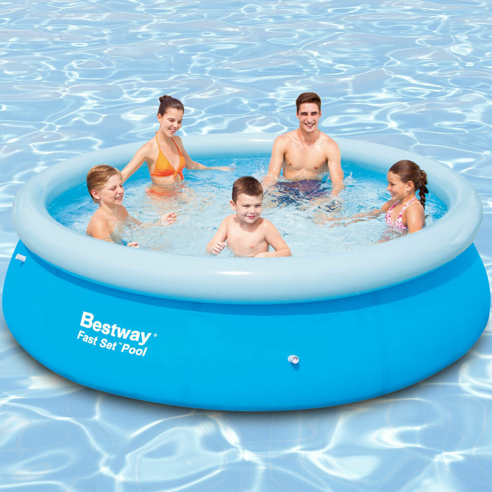 Neu bestway 366x76 swimming pool fast set aufstellpool for Pool schwimmbecken