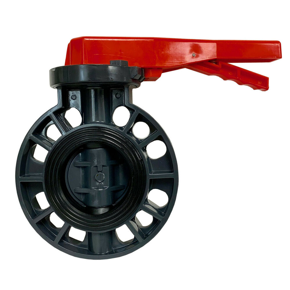 New Sch 80 Pvc 3 Inch Butterfly Valve Locking Handle