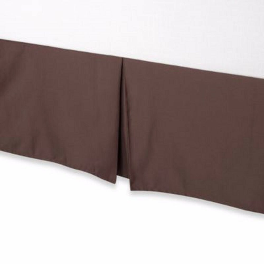 nip palais royale hotel collection california king size brown bedskirt tailored ebay. Black Bedroom Furniture Sets. Home Design Ideas