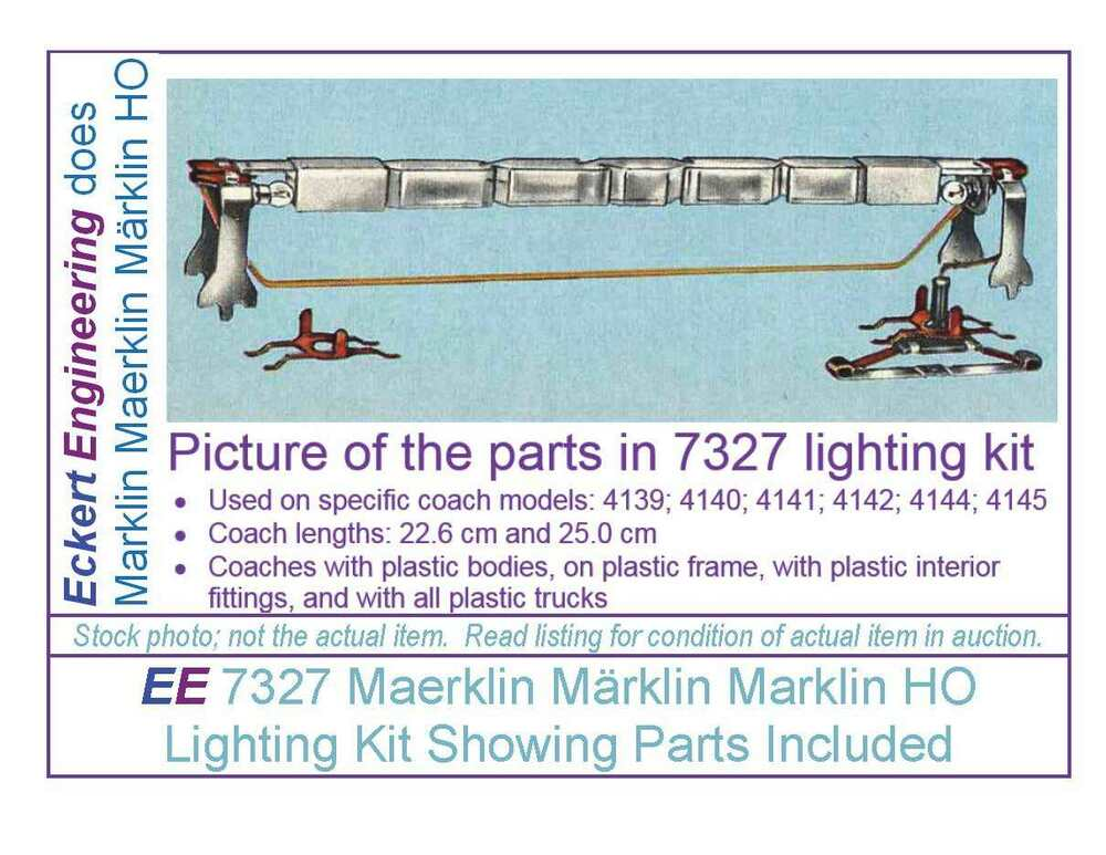 ee 7327 new maerklin m rklin marklin ho passenger car interior lighting kit obx ebay. Black Bedroom Furniture Sets. Home Design Ideas