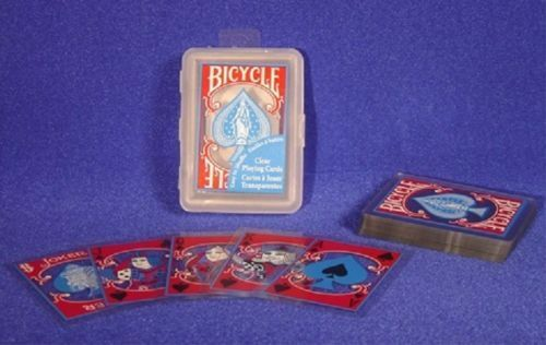 bicycle clear plastic playing cards