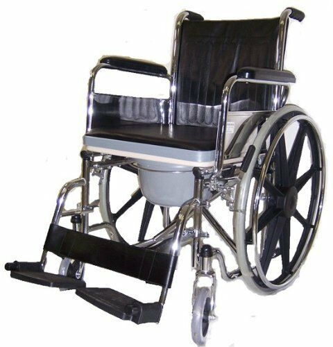 Commode Wheelchair And Shower Wheelchair 3 In 1 Wheelchair Bathroom Wheel Cha