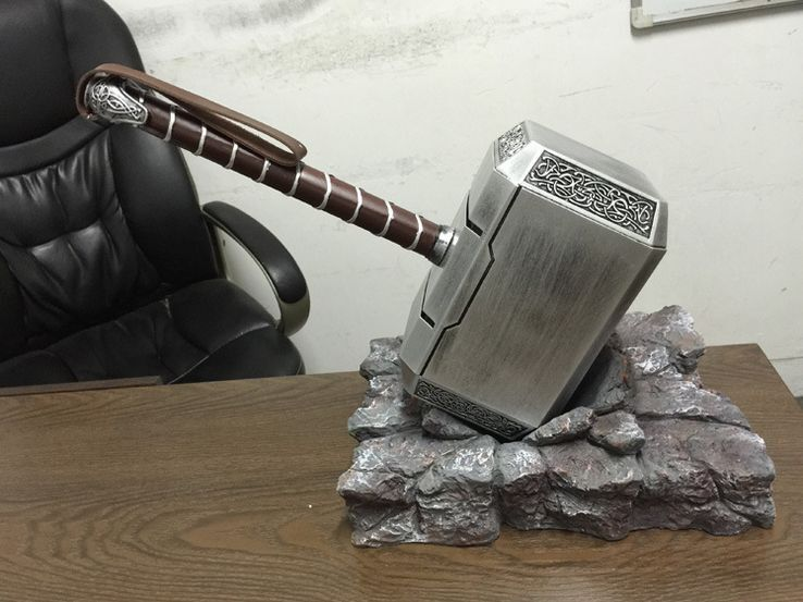 FULL SET The Avengers Thor Mjölnir Hammer 1:1 Replica ...