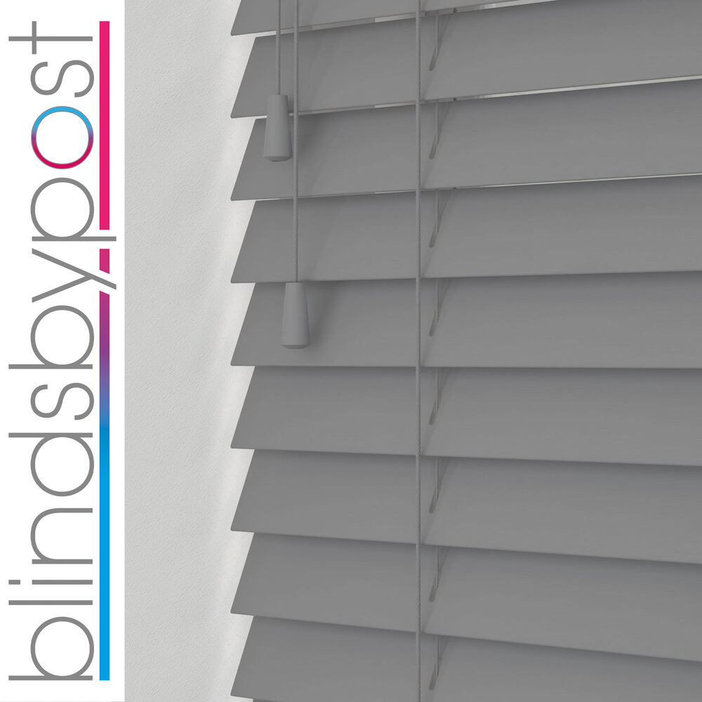 Blinds for curved windows - Grey Wooden Venetian Blinds 25 35 50mm Wood Made To Measure Blind Child