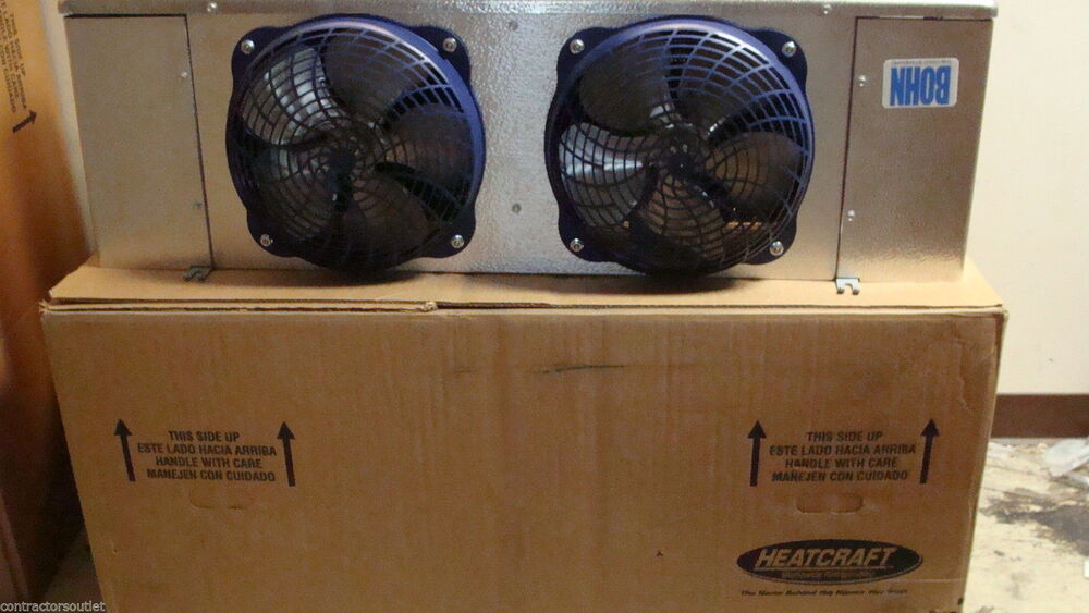 new bohn air defrost 2 fan walk in cooler evaporator 7 000