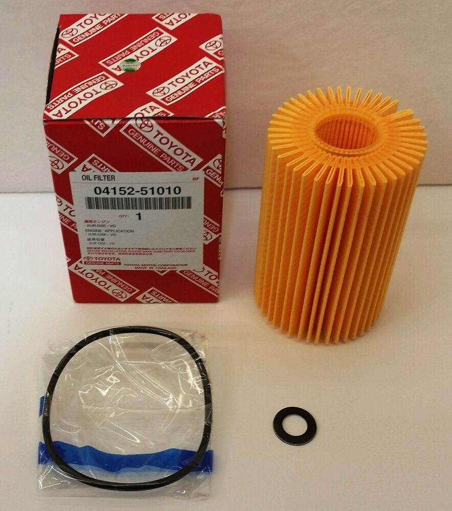 Lexus Oem Factory Oil Filter And Drain Plug Washer Set 2008