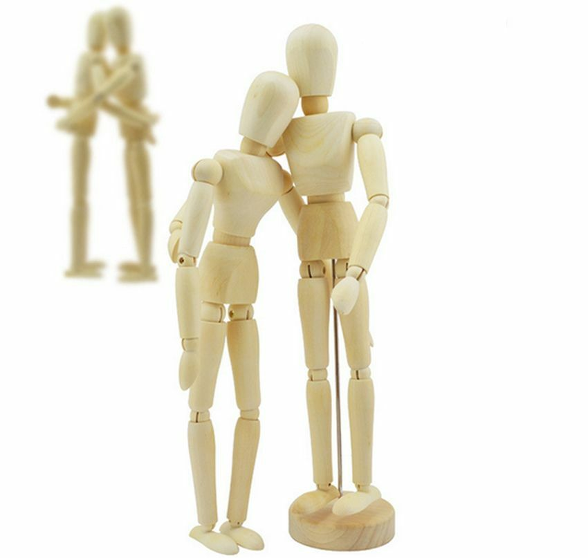Wooden Manikin Figures Jointed Model Painting Artist Drawing ...