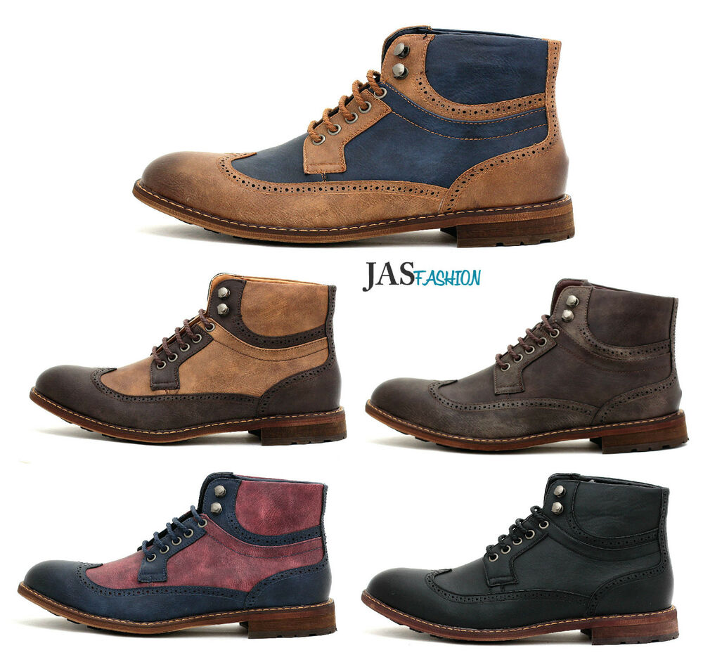 Leather Shoes Ankle Men S Fashion