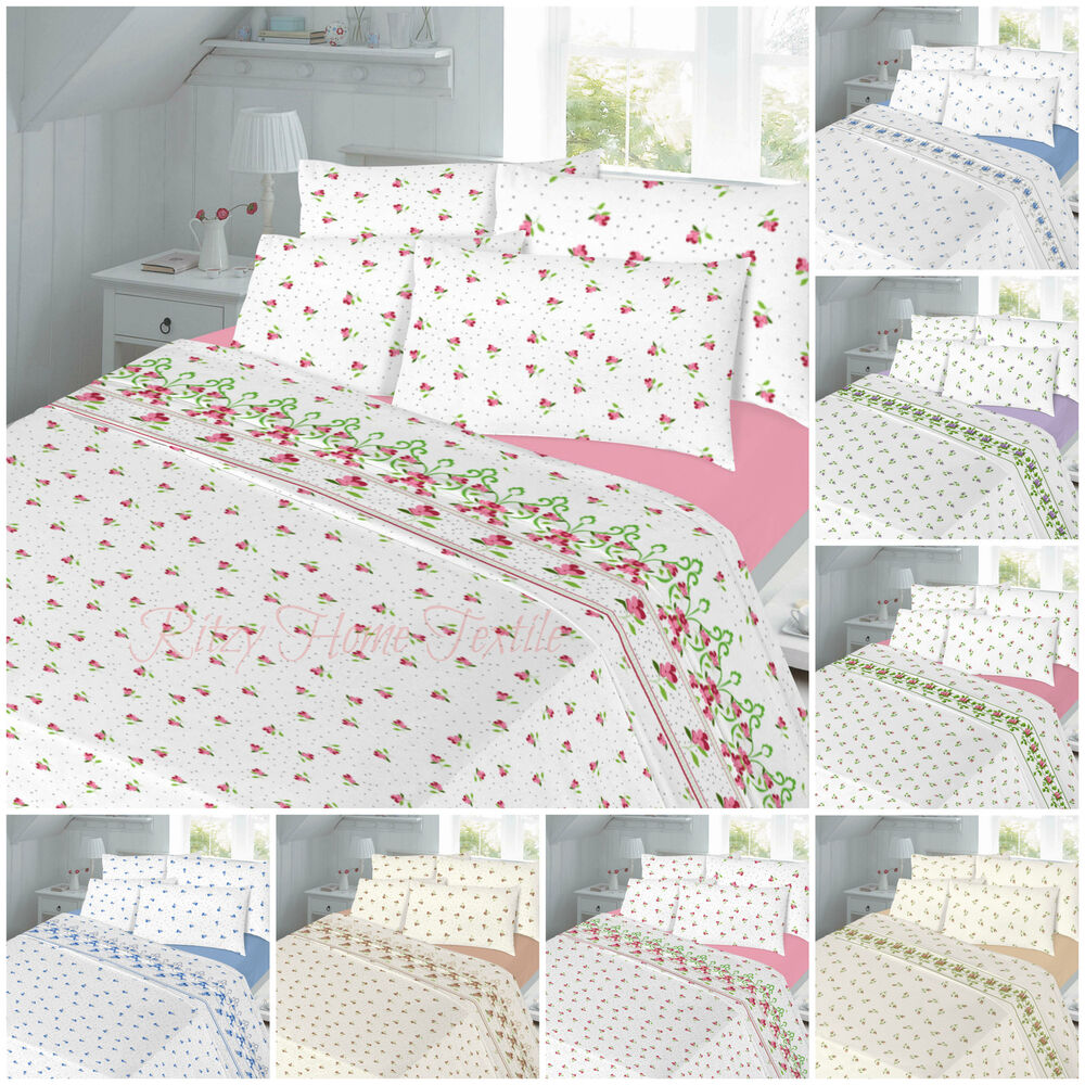 Flannelette Duvet Cover Set Double King Single Sheet Set