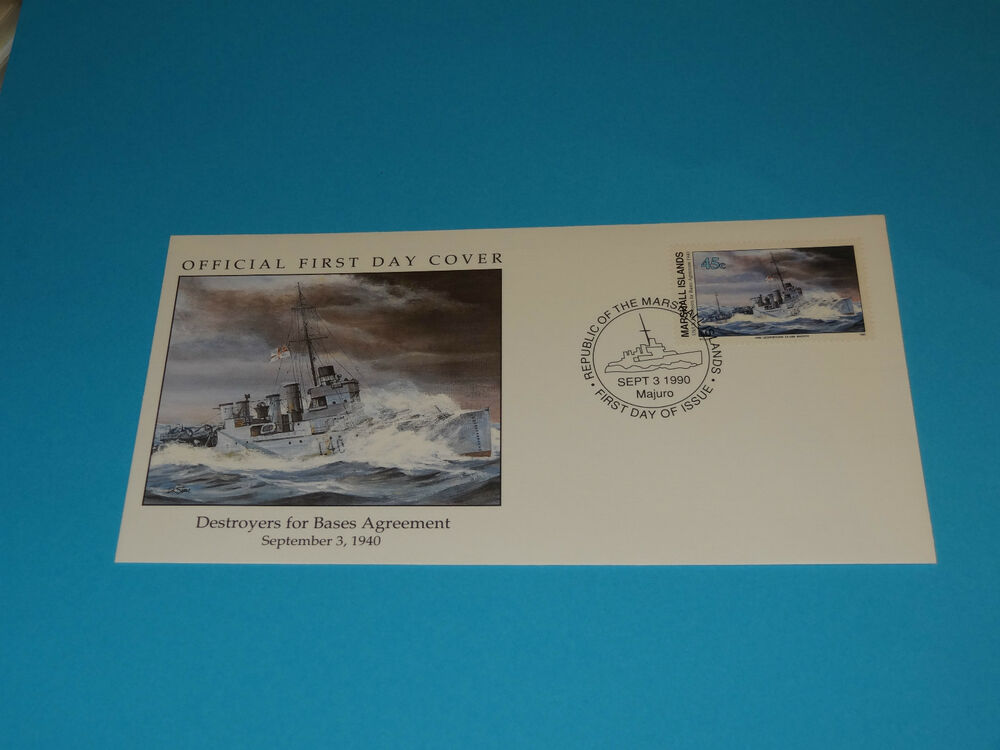 Wwii Fdc W13 1 Hms Georgetown Britain Russia Destroyers For Bases