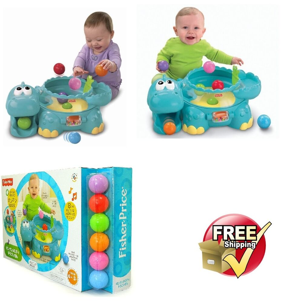 Baby Activity Toys : Fisher price go baby poppity pop musical dino infant