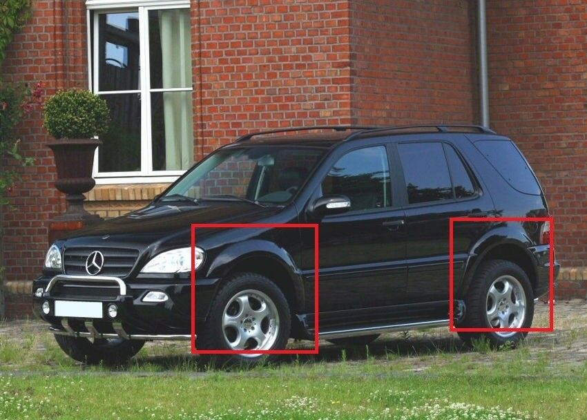 mercedes ml w163 fender flares wheel arch extensions new ebay. Black Bedroom Furniture Sets. Home Design Ideas