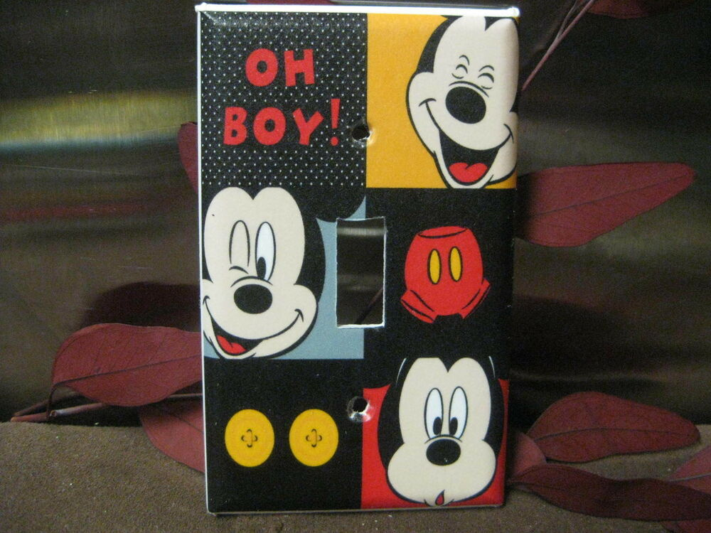 Mickey Mouse Faces Light Switch Wall Plate Cover 50