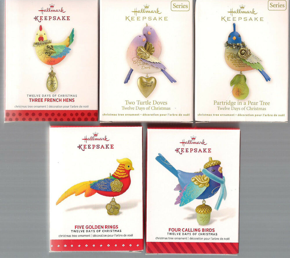 Hallmark Series Ornaments Twelve Days Of Christmas 2011: list of christmas ornaments
