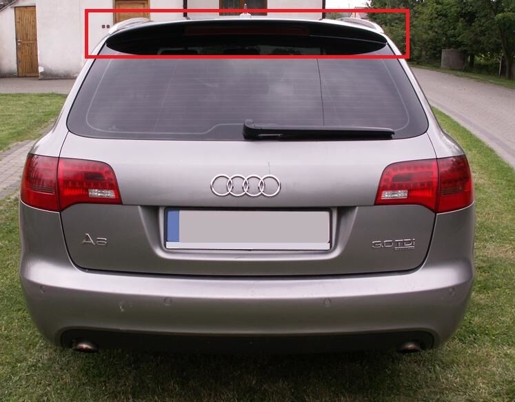 audi a6 c6 avant estate 05 11 rear roof spoiler new ebay. Black Bedroom Furniture Sets. Home Design Ideas