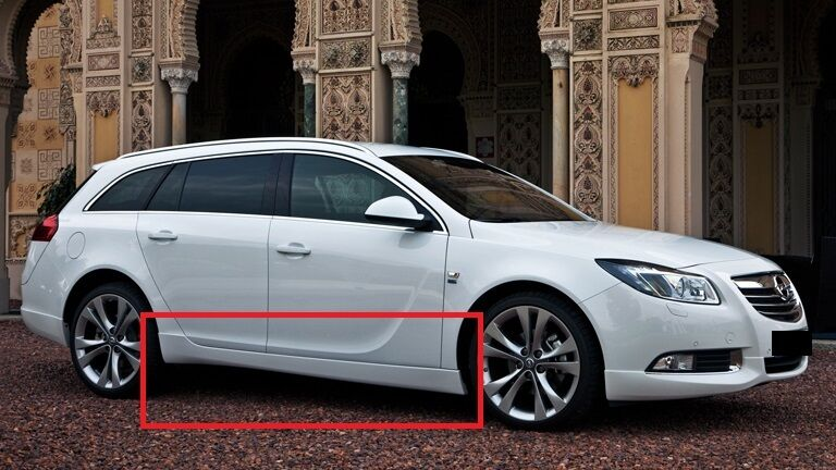 opel vauxhall insignia side skirts opc vxr look new 2. Black Bedroom Furniture Sets. Home Design Ideas