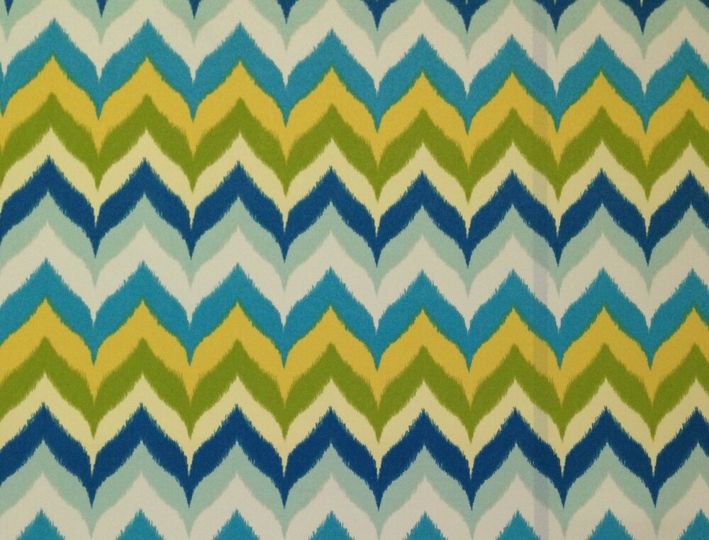Mill Creek Glamis Spa Blue Green Zig Zag Chevron Outdoor