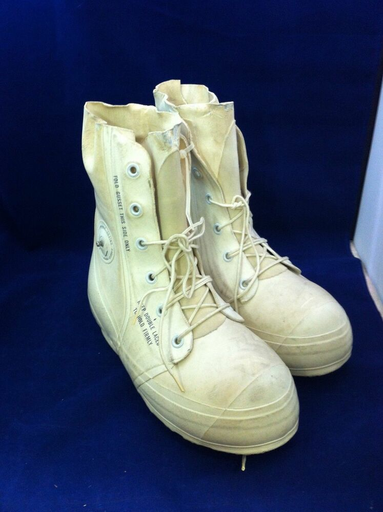 used genuine usgi cold weather boots white mickey