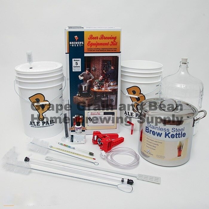 Brewers beast home brewing equipment kit beer making for Best craft beer kit