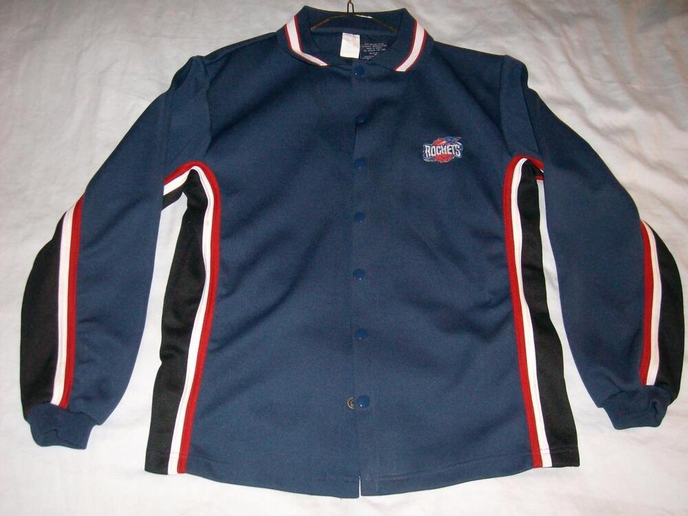 Houston Rockets 1990s Nba Sportonics Blue Warm Up Jacket