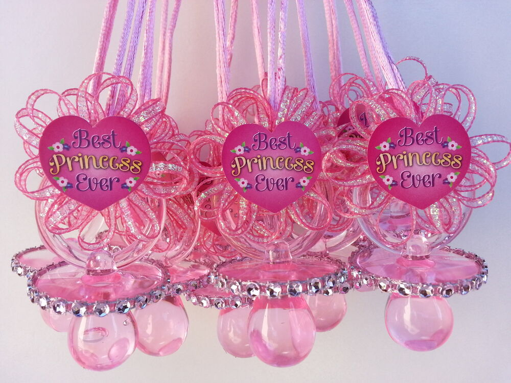 12 pacifier necklaces best princess ever baby shower favor prize girl