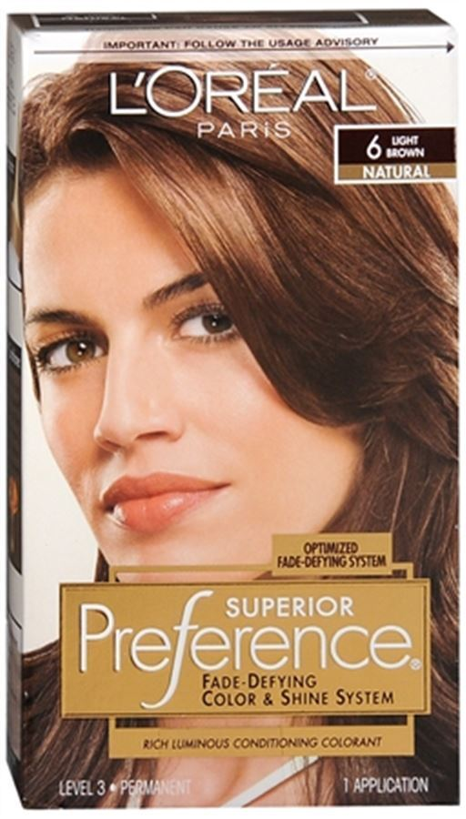 L Oreal Superior Preference 6 Light Brown Natural 1