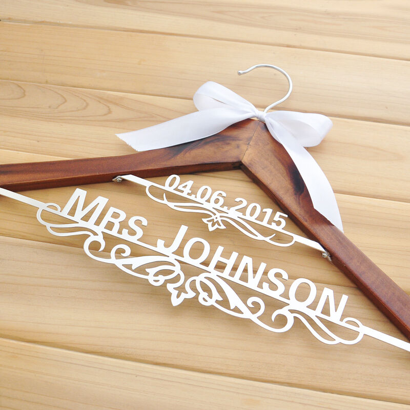 Personalized Wedding Gifts: Personalized Hanger, Custom Wedding Hanger, Bridal Name