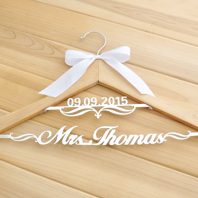 Personalized wedding hanger custom name hanger wooden for Wedding dress hangers with name