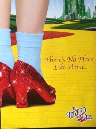 Wizard Of Oz Red Shoes On The Yellow Brich Road