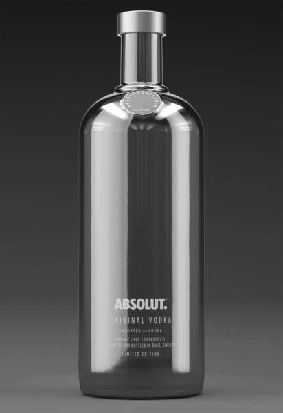 Vodka Absolut Electrik Silver  70 cl 40% vol.