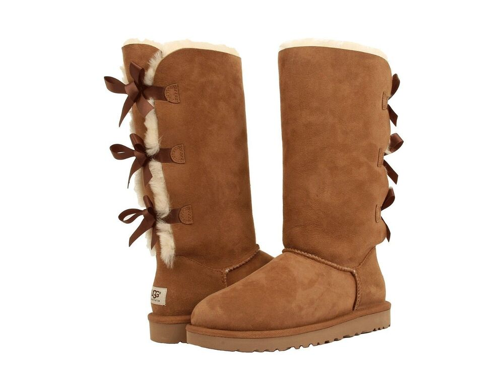 Ugg Australia Women S Classic Bailey Bow Tall Chestnut