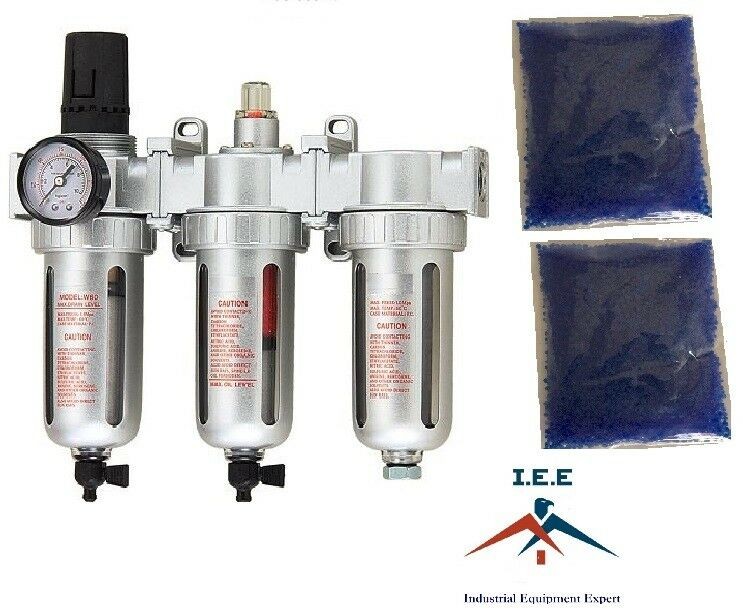 "Air Compressor Filter Dryer >> 3/8"" COMPRESSED AIR FILTER REGULATOR / DESICCANT DRYER GOOD FOR PLASMA CUTTER 