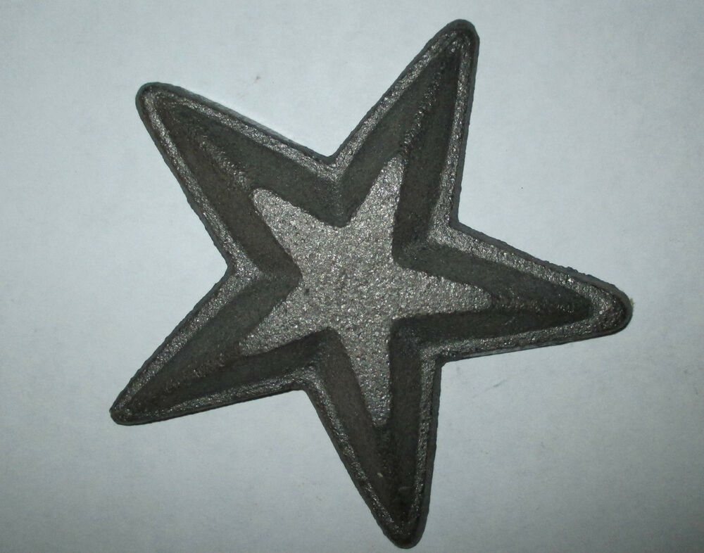 Rustic Primitive Cast Iron Star For Fence Barn Wall Decor