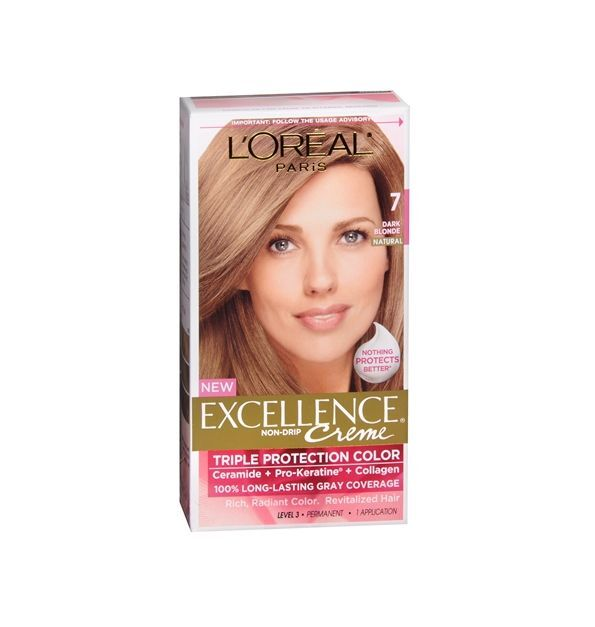L Oreal Excellence Creme 7 Dark Blonde Natural 1 Each