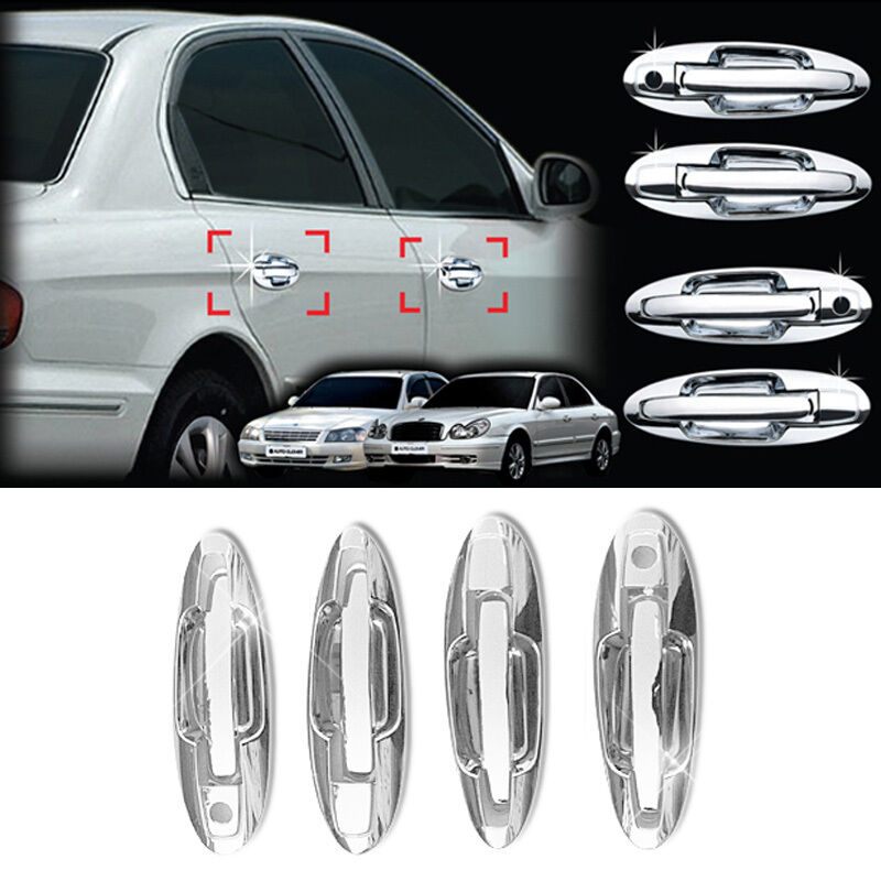 Chrome Side Door Catch Handle Cover Molding Trim For