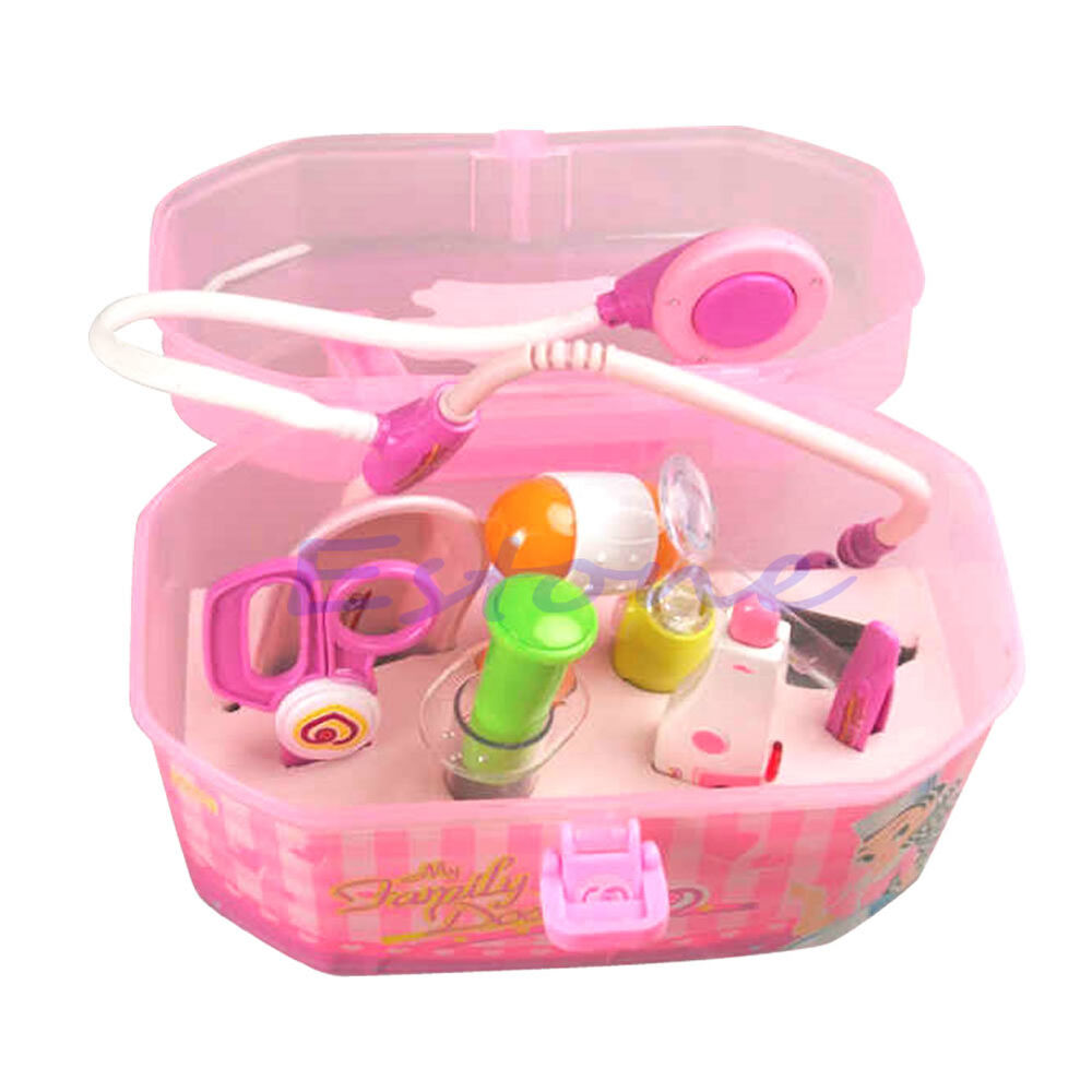 Play Toys For Boys : Pink doctor kit medical box play role toy set for kids