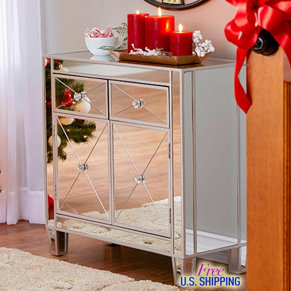 Mirrored Cabinet: Modern Mirrored Cabinet Chest Bedside Night Stand Drawers