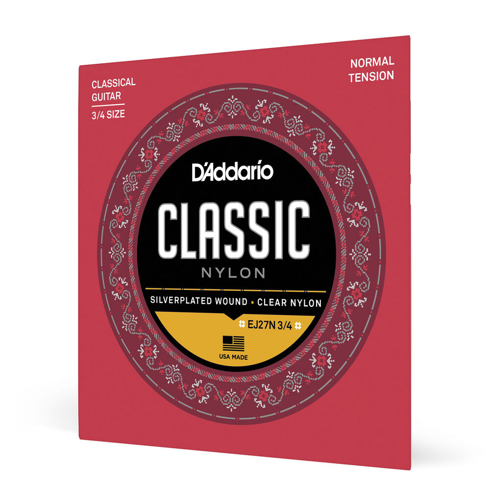 D Addario Nylon Classical Guitar Strings : 3 sets d 39 addario ej27n 3 4 student nylon fractional classical guitar strings nt ebay ~ Russianpoet.info Haus und Dekorationen