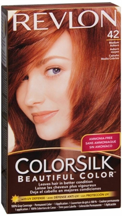 Revlon ColorSilk Hair Color 42 Medium Auburn 1 Each  eBay