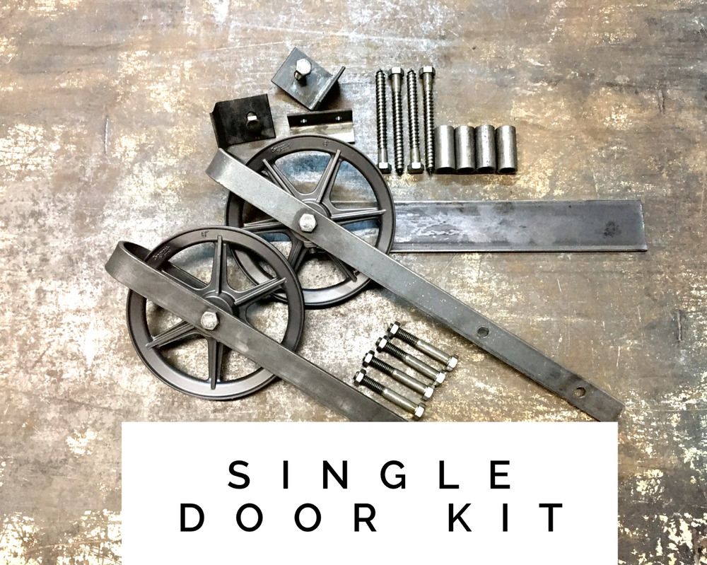 Sliding Barn Wood Door Hardware Kit Set Track Industrial