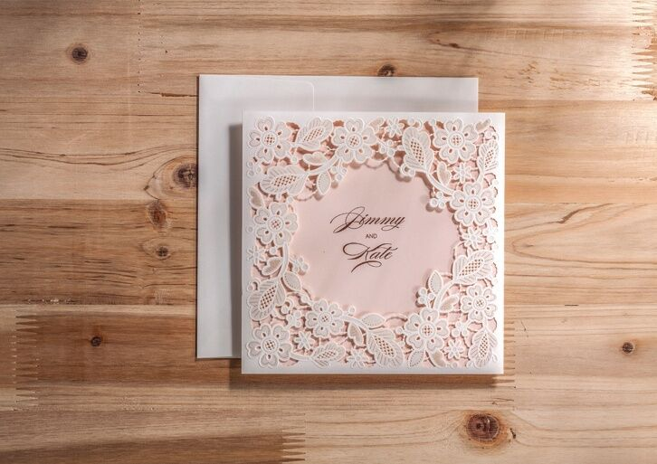 personalized wedding/ceremony invitations CW5197, with envelopes ...